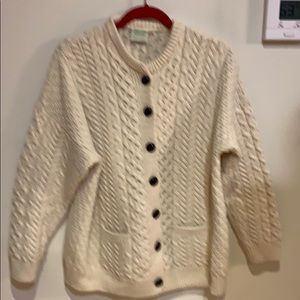 Aran Isles Irish knit cardigan